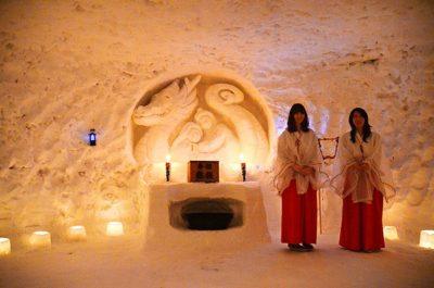 つなん雪まつり・かまくら神社