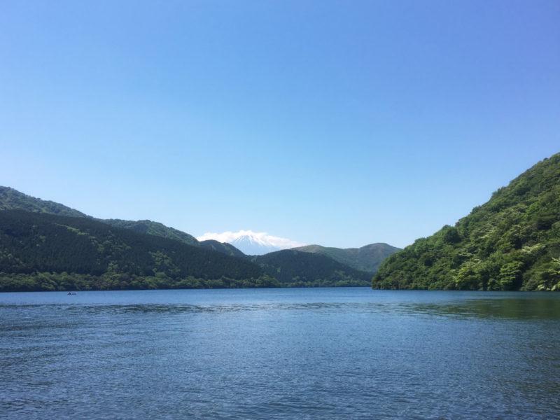 介護旅行-芦ノ湖遊覧船:富士山