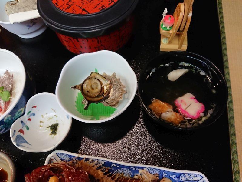 山下旅館 別館:夕食(神津島)