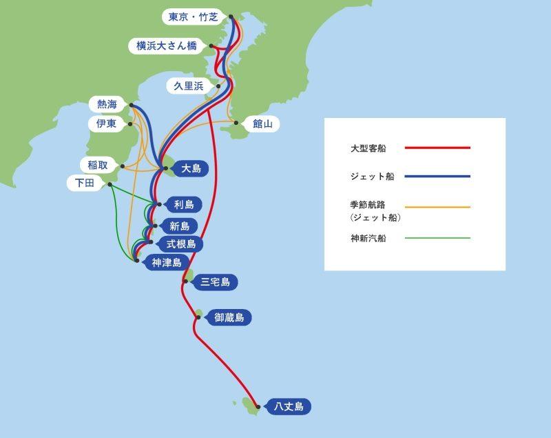 東海汽船:航路マップ