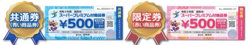 調布プレミアム付商品券・共通券・限定券(さくらツーリスト)