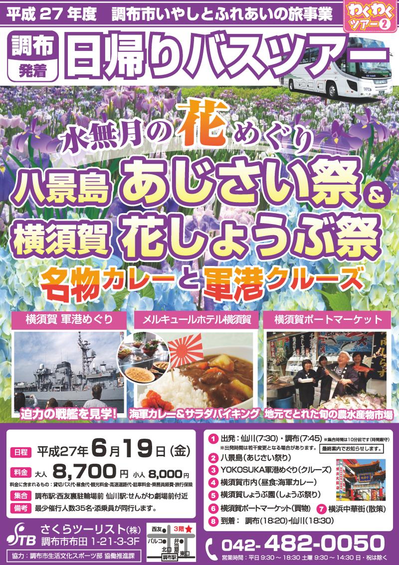 水無月の花めぐり 横須賀あじさい&花しょうぶ祭り 名物カレーと軍港クルーズ