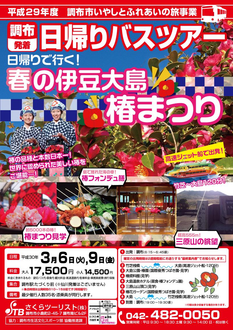 【3月】3/6(火) 日帰りで行く!春の伊豆大島「椿まつり」