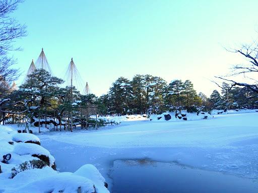 兼六園の雪景色