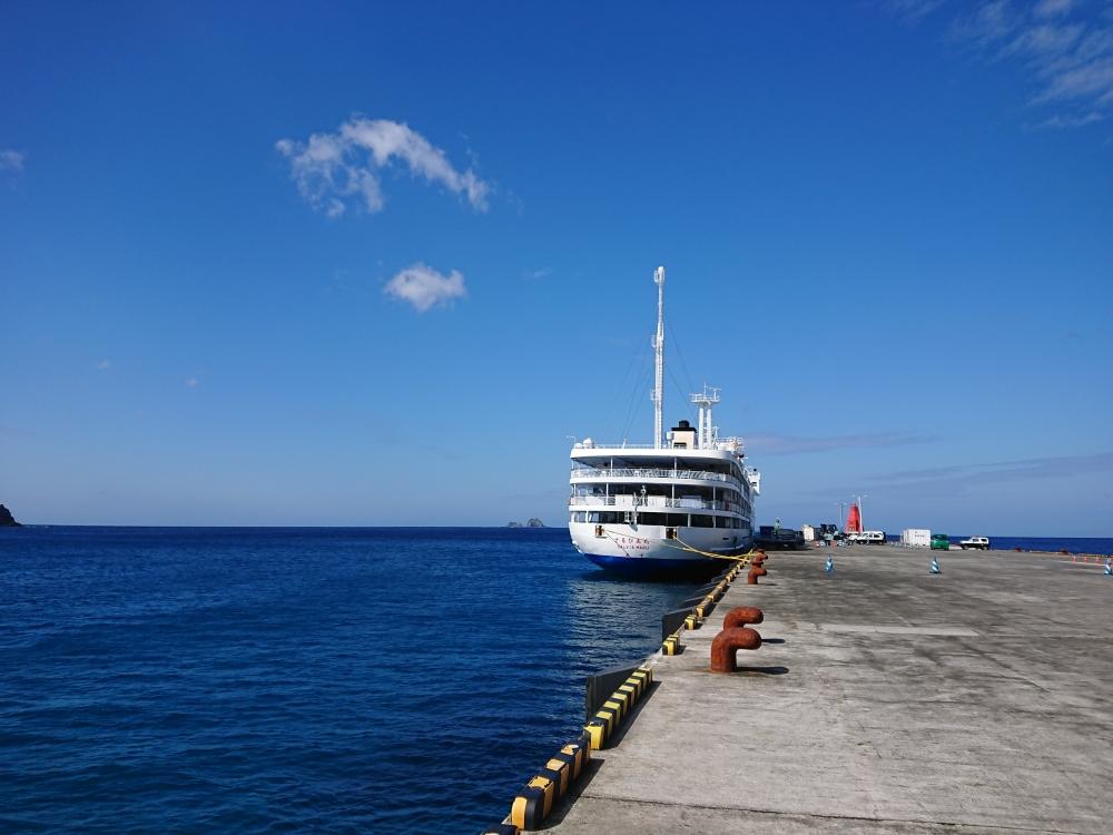 東海汽船:さるびあ丸(神津港)